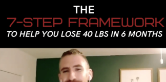 you could use 40 pounds in 6 months if you follow this 7 step framework in order