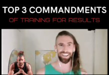 the top three commandments for training to get results