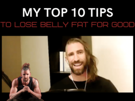 my top ten tips to lost belly fat for good